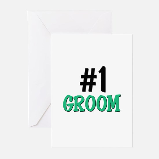 Number 1 GROOM Greeting Cards (Pk of 10)