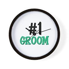Number 1 GROOM Wall Clock