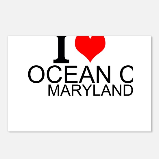 I Love Ocean City, Maryland Postcards (Package of