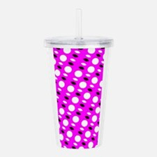 Pink Sequel Shapes Acrylic Double-Wall Tumbler