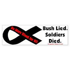 Ribbon - Bush Lied Soldiers Died Bumper Bumper Sticker