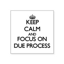 Keep Calm and focus on Due Process Sticker