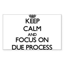 Keep Calm and focus on Due Process Decal