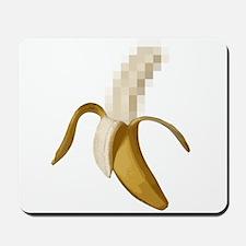 Dirty Censored Peeled Banana Mousepad