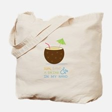 Sun Sand and Drink Tote Bag