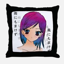 Anime girl Throw Pillow
