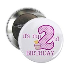 "It's My 2nd Birthday 2.25"" Button"