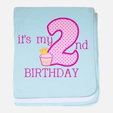 It's My 2nd Birthday baby blanket