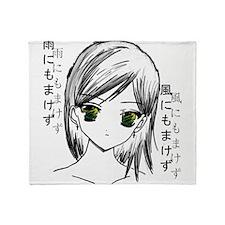 Anime girl 2 Throw Blanket