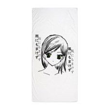 Anime girl 2 Beach Towel