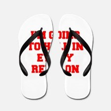 I'm going to hell in every religion Flip Flops