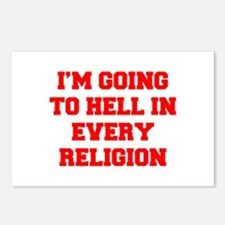 I'm going to hell in every religion Postcards (Pac