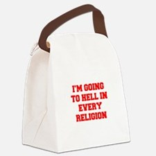 I'm going to hell in every religion Canvas Lunch B