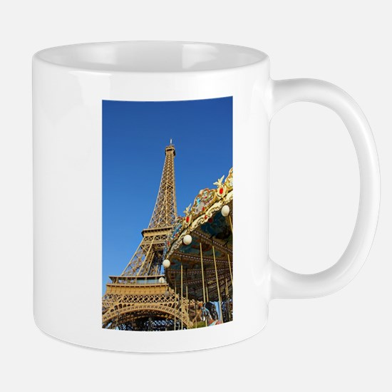 Eiffel Tower Carousel Mugs