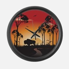 Buffalo Large Wall Clock