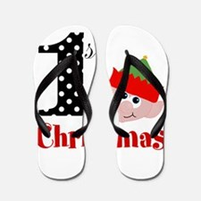 1st First Christmas Flip Flops