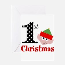 1st First Christmas Greeting Cards