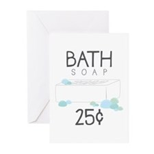 Bath Soap Greeting Cards