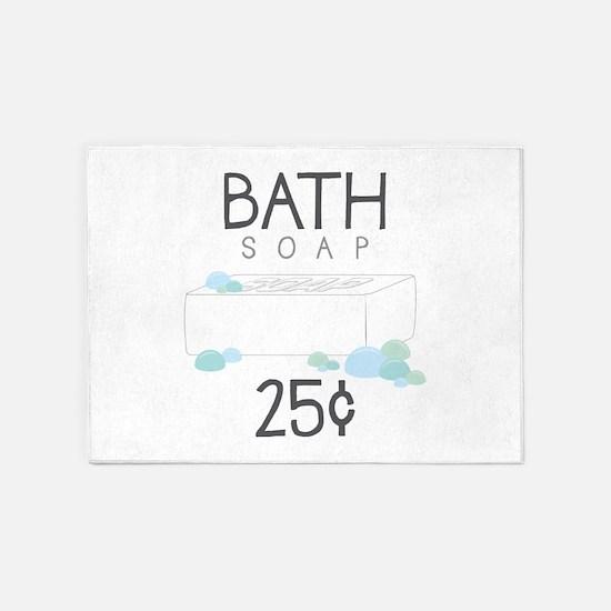 Bath Soap 5'x7'Area Rug