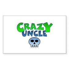 CrazY uncle skull Decal