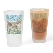 Horse in Tall Grass Drinking Glass