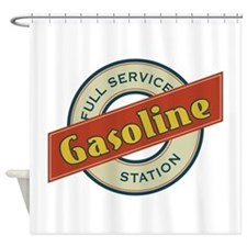 Full Service Gasoline Station Shower Curtain
