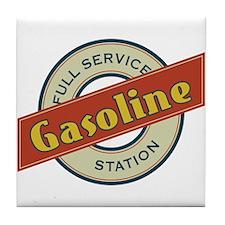 Full Service Gasoline Station Tile Coaster