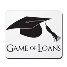 Game of College Graduation Loans Mousepad