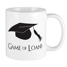 Game of College Graduation Loans Mugs