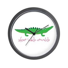 After while Crocodile Wall Clock