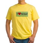 I LOVE MY BOAT Yellow T-Shirt