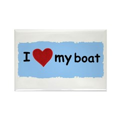 I LOVE MY BOAT Rectangle Magnet (100 pack)