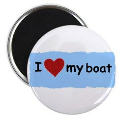 "I LOVE MY BOAT 2.25"" Magnet (100 pack)"