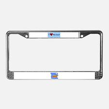 I LOVE MY BOAT License Plate Frame