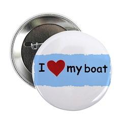 I LOVE MY BOAT Button