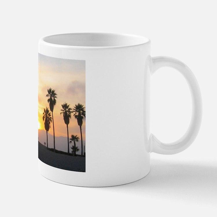 Venice Beach Boardwalk and Palms at Sunset Mugs