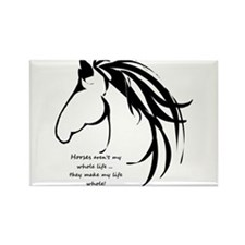 Horses arent my Whole Life Quote Horse Head Logo M