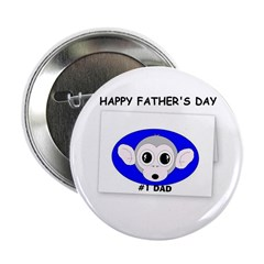 HAPPY FATHER'S DAY -#1 DAD Button