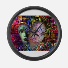 Artistic Confusion of Brain Fog Large Wall Clock