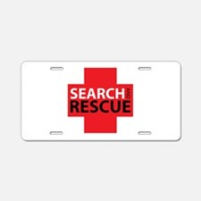 Search And Rescue Aluminum License Plate