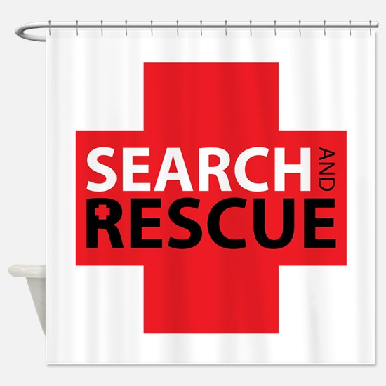 Search And Rescue Shower Curtain