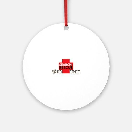 K9-Unit Ornament (Round)