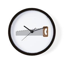 Wood Saw Wall Clock