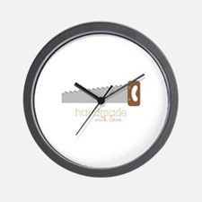 Handmade with love Wall Clock