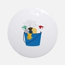 Cleaning Bucket Ornament (Round)