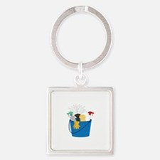 Cleaning Bucket Keychains