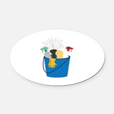 Cleaning Bucket Oval Car Magnet