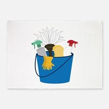 Cleaning Bucket 5'x7'Area Rug