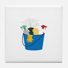 Cleaning Bucket Tile Coaster