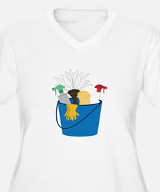 Cleaning Bucket Plus Size T-Shirt